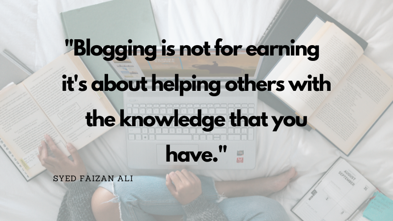 Include a blog in your website